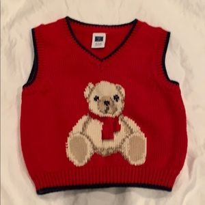 Janie and Jack Holiday Sweater Vest 0-3 months
